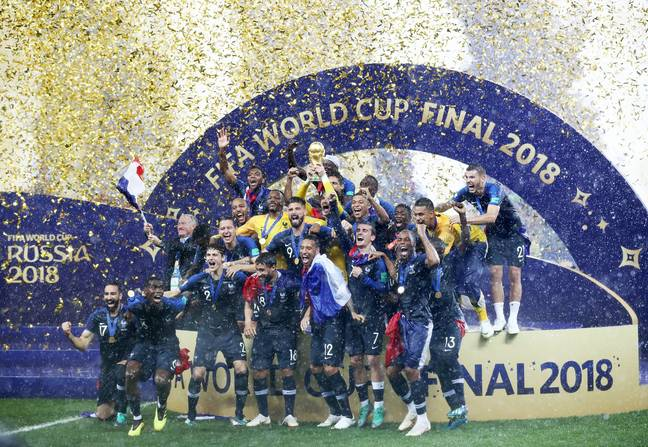 France celebrate winning the World Cup. Image: PA Images
