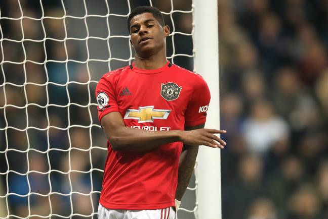 Rashford was barely in the game against the Magpies. Image: PA Images