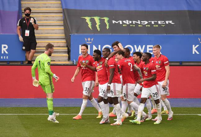 United's win against Leicester secured Champions League football. Image: PA Images