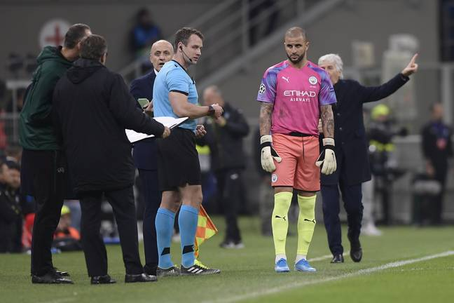 City's last Champions League game saw Kyle Walker go in goal against Atalanta. (Image Credit: PA)