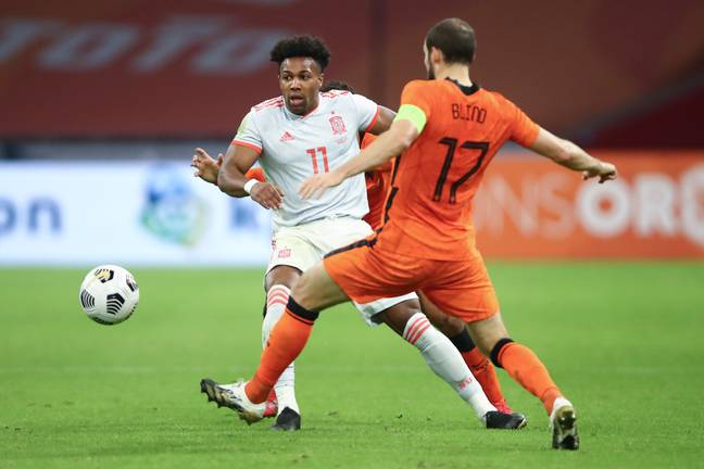 Traore playing against Netherlands on Wednesday. Image: PA Images