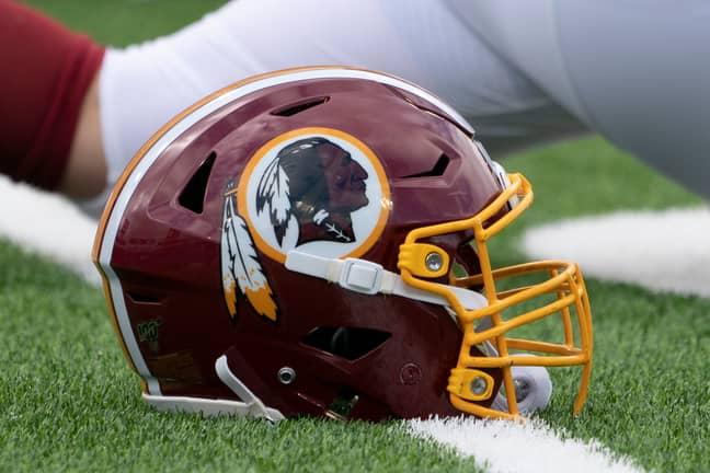 The Washington Redskins' helmet. Credit: PA