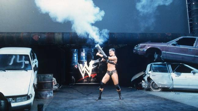 Chyna making an explosive entrance. Image: WWE