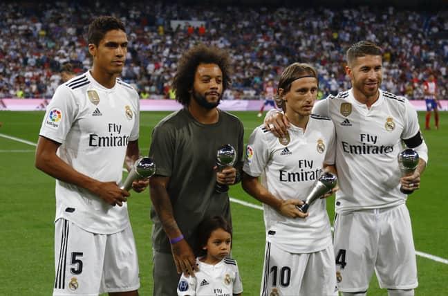Raphael Varane, Marcelo, Luka Modric and Sergio Ramos (Image Credit: PA)