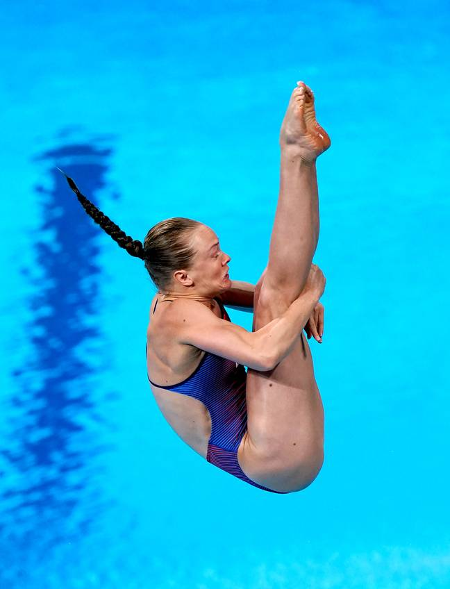 USA's Krysta Palmer competing in the Tokyo Olympics. Credit: PA