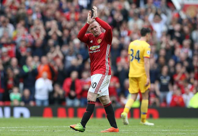 Rooney says farewell to the United fans. Image: PA Images