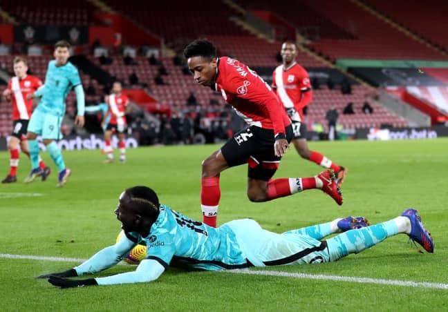 Liverpool felt Sadio Mane should have had a penalty vs Southampton. Image: PA Images