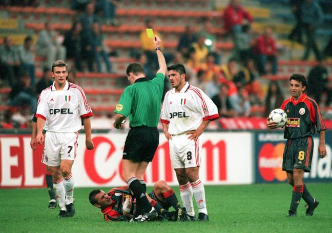 Gattuso being booked in Europe was no surprise. Image: PA Images