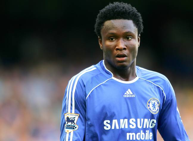 Mikel for Chelsea in 2006. Image: PA Images