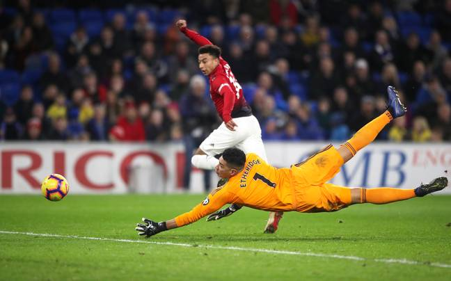 The last time Lingard scored. Image: PA Images
