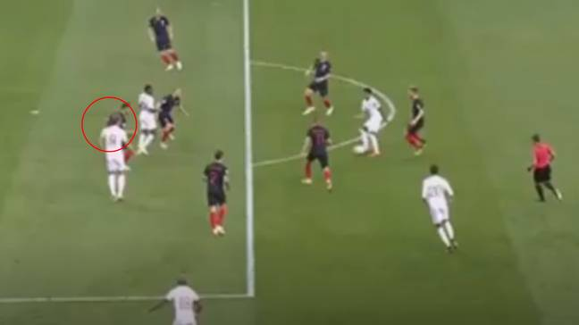 It's inches, but VAR would have picked up on it. (Image Credit: ITV)