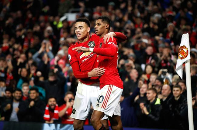 Marcus Rashford and Mason Greenwood are amongst the United graduates in the current squad. Image: PA Images