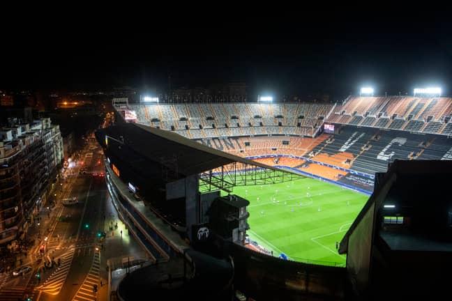 Valencia vs Atalanta was played behind closed doors. Image: PA Images