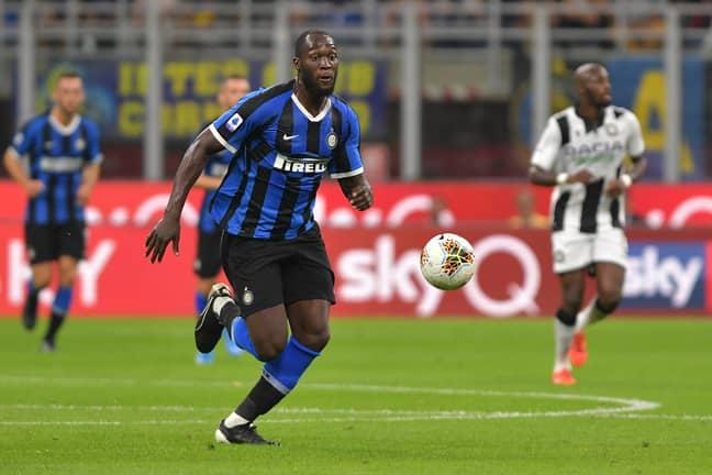 Lukaku runs onto the ball against Udinese. Image: PA Images