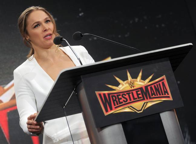 Ronda Rousey became champion in the WWE. Credit: PA