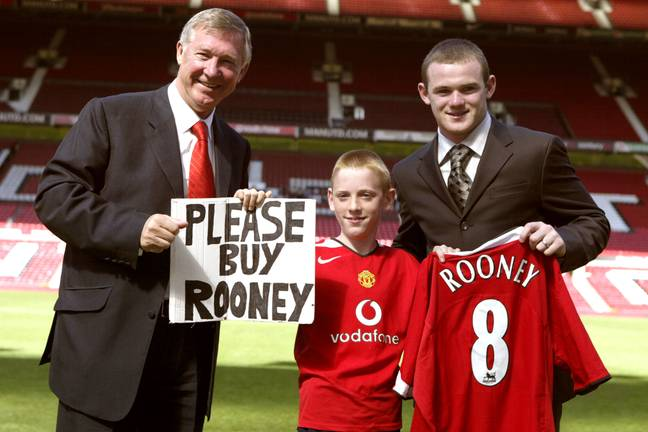 Rooney became the most expensive transfer in 2004. Image: PA Images