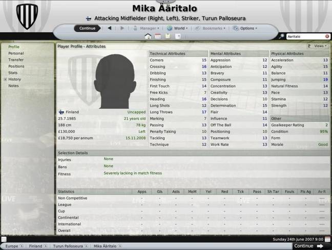 Image credit: Sports Interactive/Football Manager