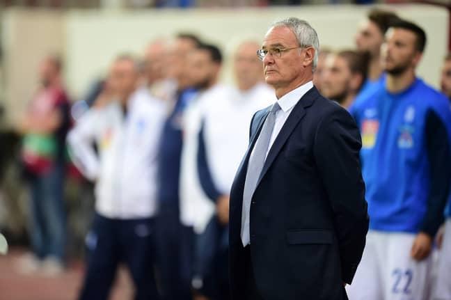 Ranieri looks on as Greece lose. Image: PA Images