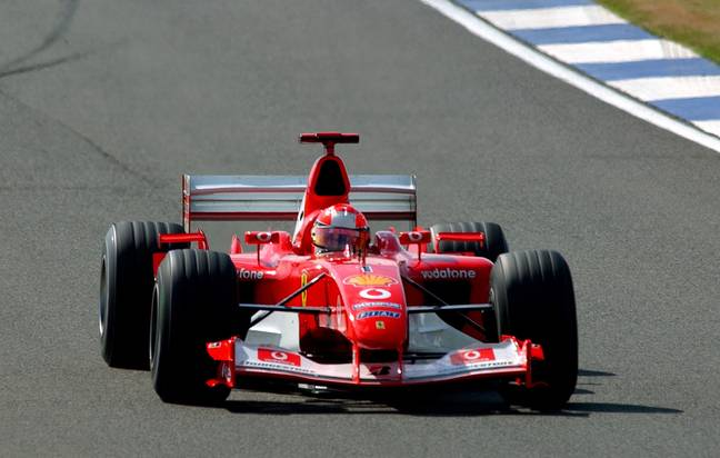 Between 2000 and 2004 he won five championships while driving for Ferrari. Credit: PA