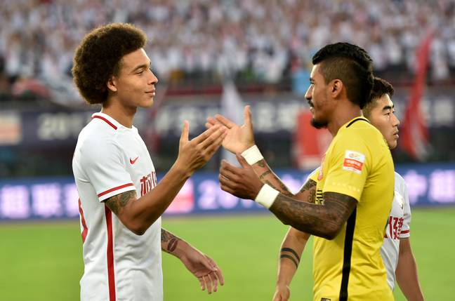 Witsel and Paulinho meet in the Chinese Super League. Image: PA Images.