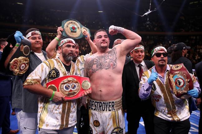Ruiz Jr after his victory back in June. (Image Credit: PA)