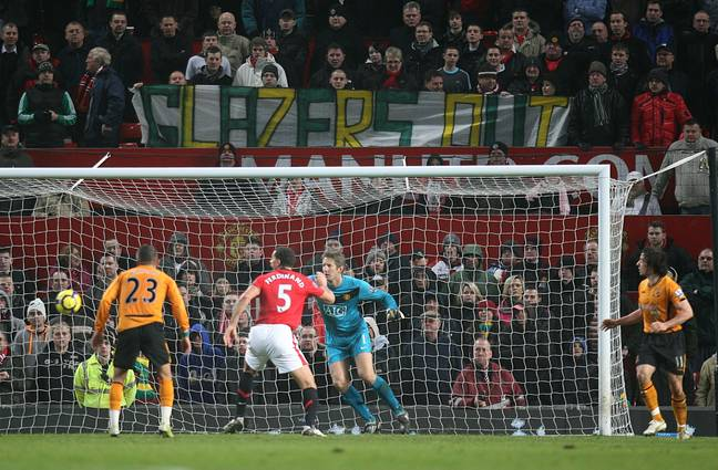 Fans were protesting the Glazers in 2010, when United were Premier League champions. Image: PA Images