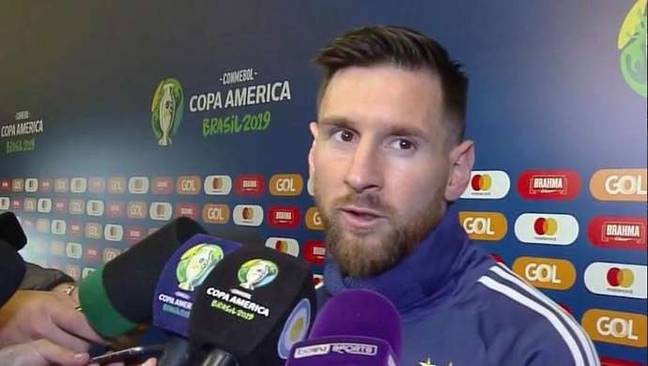 Messi wasn't happy after being knocked out of the Copa America. Image: beIN Sport