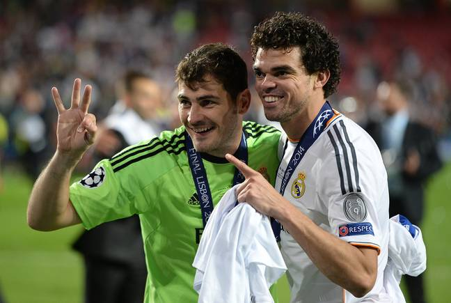 Casillas and Pepe in a post Mourinho world, much happier. Image: PA Images