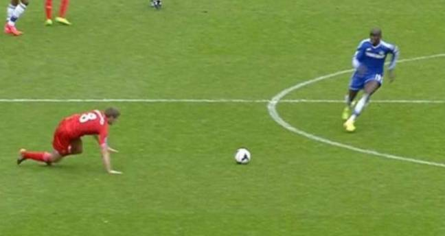 Could Gerrard's slip suddenly be irrelevant? Image: Sky Sports