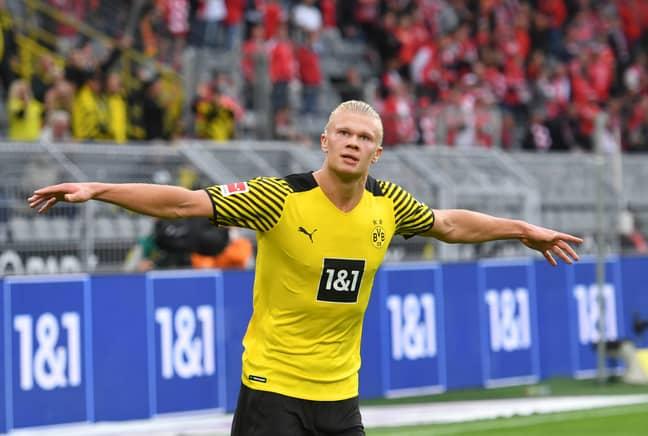 Erling Haaland scores against Union Berlin