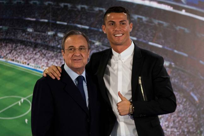 Perez and Ronaldo side by side. Image: PA Images