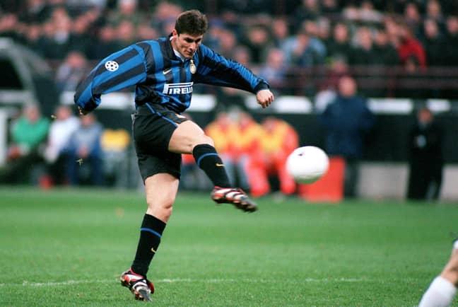 Inter icon Javier Zanetti wore many Pirelli kits. Image: PA Images