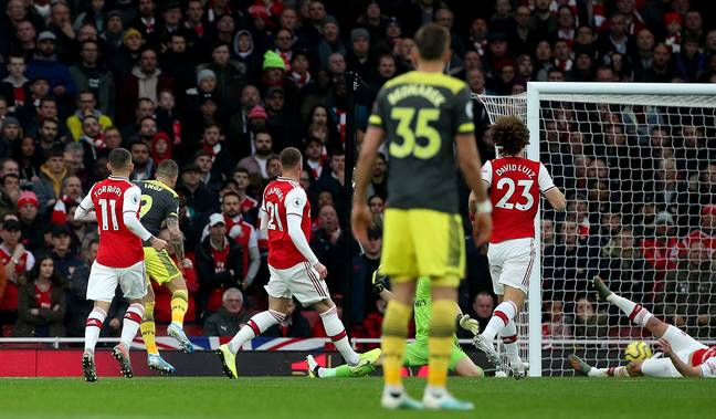 Danny Ings gave Southampton the lead against Arsenal in the eighth minute
