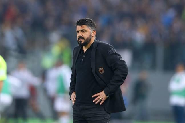 AC Milan manager Gattuso. Image: PA