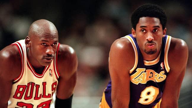 Michael Jordan and Kobe Bryant. Credit: PA