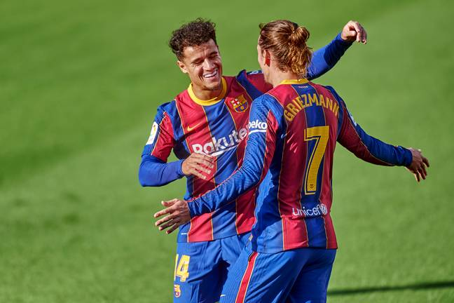 Griezmann and Coutinho could head to Italy together. Image: PA Images