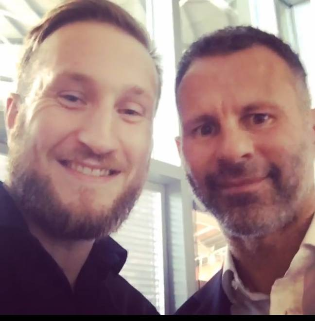 A random picture of Andy with Wales legend Ryan Giggs.