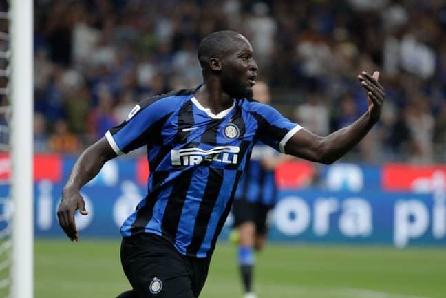 Romelu Lukaku celebrates his debut goal for Inter Milan against Lecce