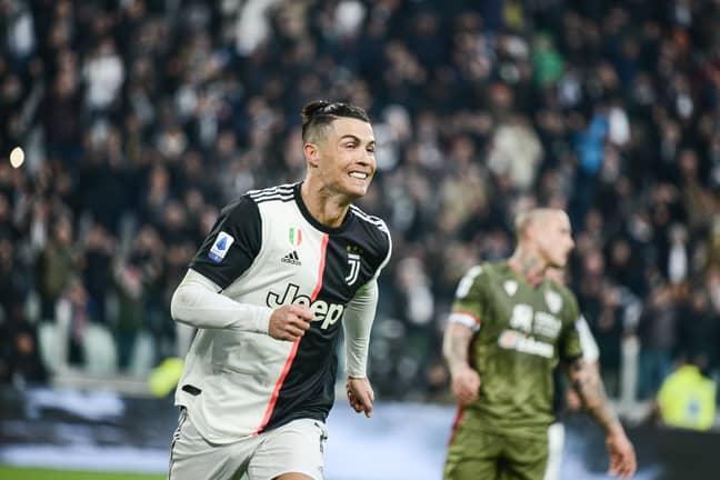 Ronaldo celebrates for Juventus. Image: PA Images