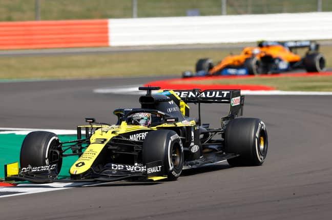 Ricciardo passed Norris at Silverstone. Credit: PA
