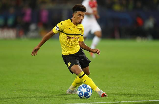Jadon Sancho has been linked with a big money move this summer. Image: PA Images