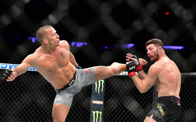 GSP made his comeback against Bisping at UFC 217 in Madison Square Garden. Credit: PA