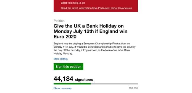 Credit: UK Parliament petitions website