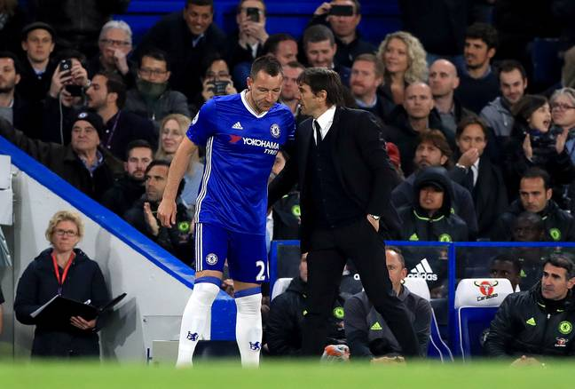 Terry and Conte had a good relationship at Chelsea. Image: PA Images