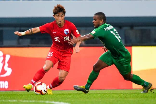 Tianjin Tianhai against Beijing Sinobo Guoan. Image: PA Images