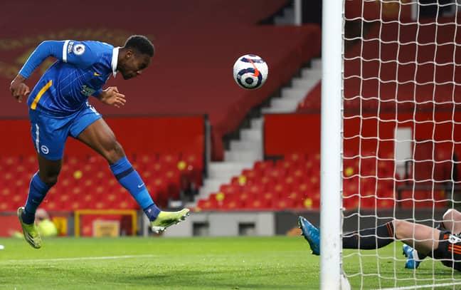 Welbeck scored against United on Sunday evening. Image: PA Images