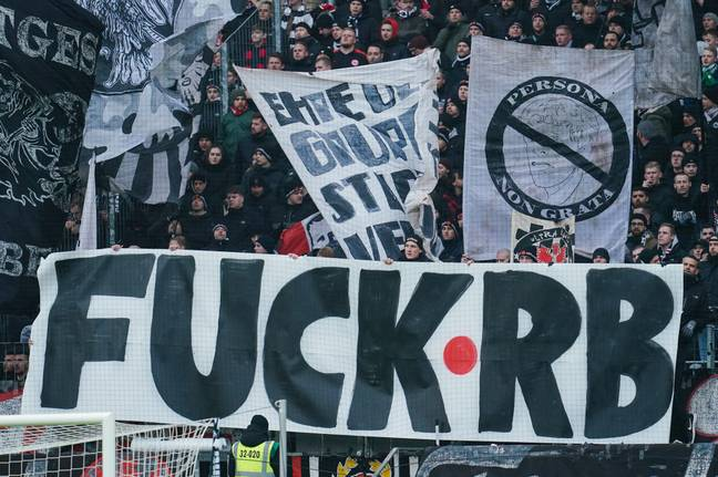 Fans in the Bundesliga have showed previously what they think of RB Leipzig. Image: PA Images