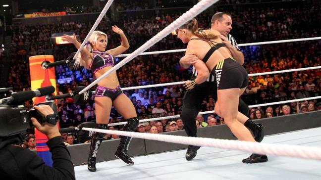 Bliss faces Ronda Rousey in Hell in a Cell in a rematch from Summerslam. Image: WWE