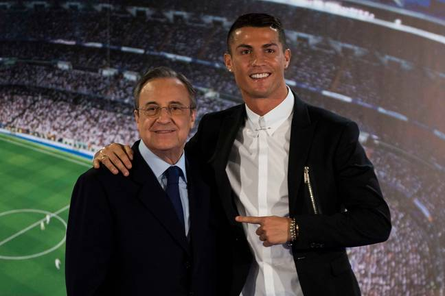 Ronaldo and Perez together. Image: PA Images