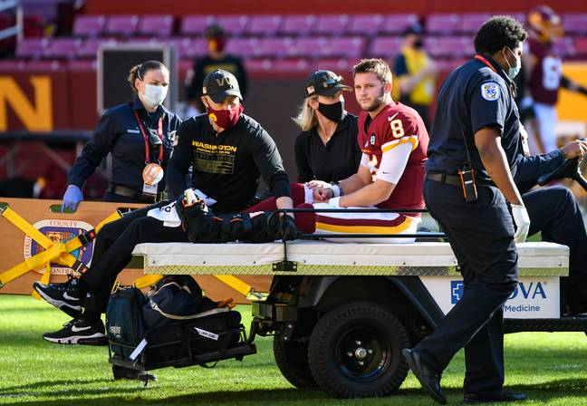 Allen was ruched to hospital after the incident. Credit: PA
